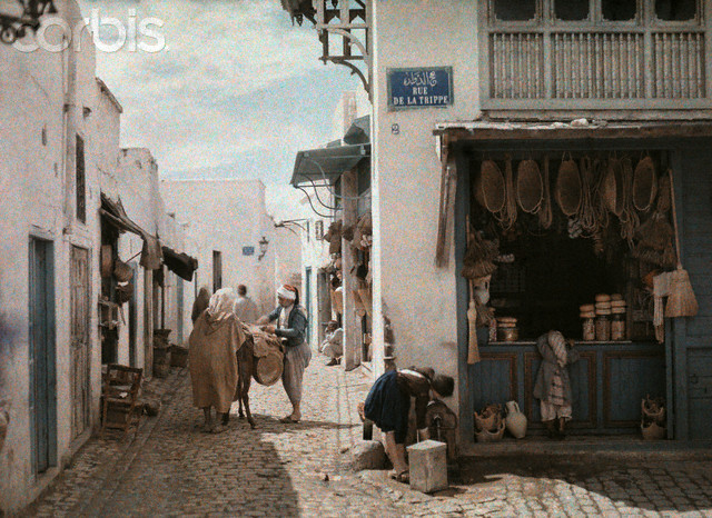 1924, Tunis, A street in a native corner of Tunis